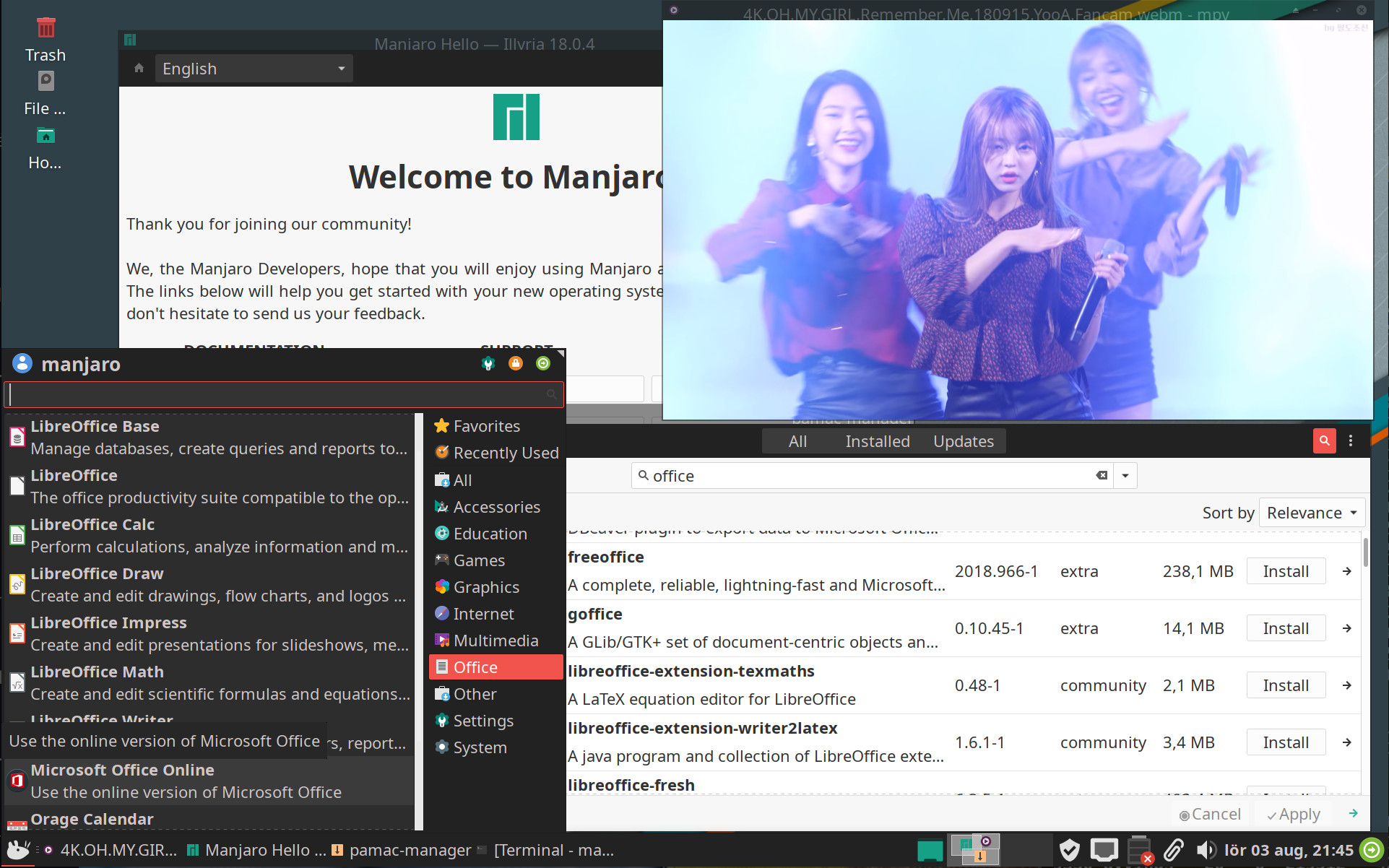 Manjaro Linux will not be installing the proprietary FreeOffice by