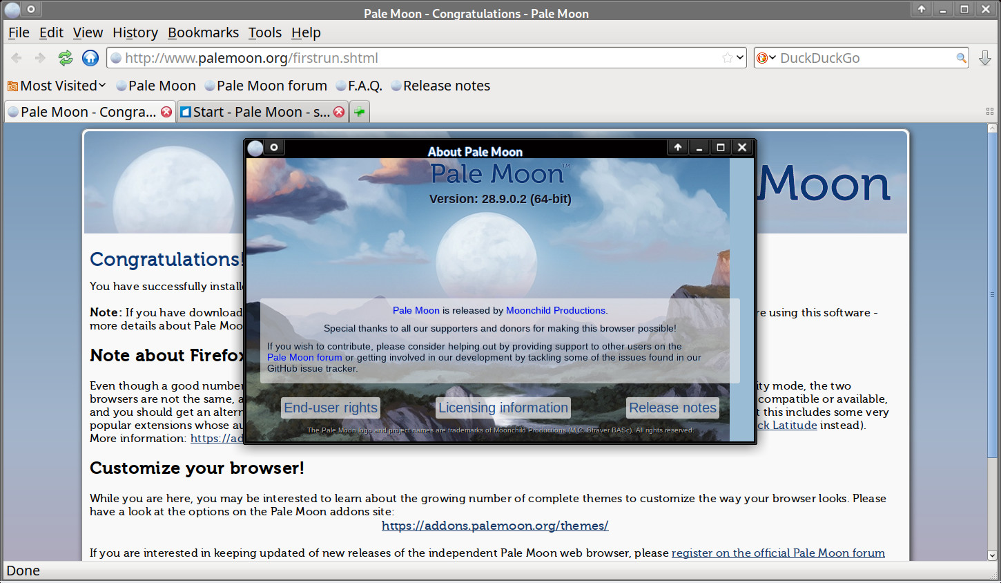Pale Moon Browser for Windows and Mac