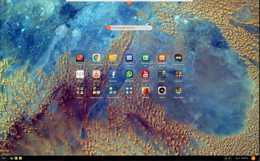 Endless OS 3.8.6 default desktop.jpg