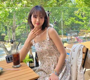 Kang Hye Yeon enjoying the beautiful weather during the summer of 2020.