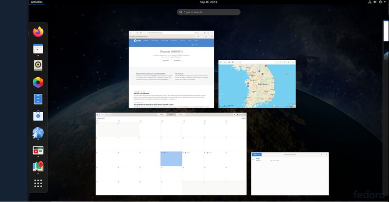 GNOME 3.38 Applications Overview on Fedora 33.jpg